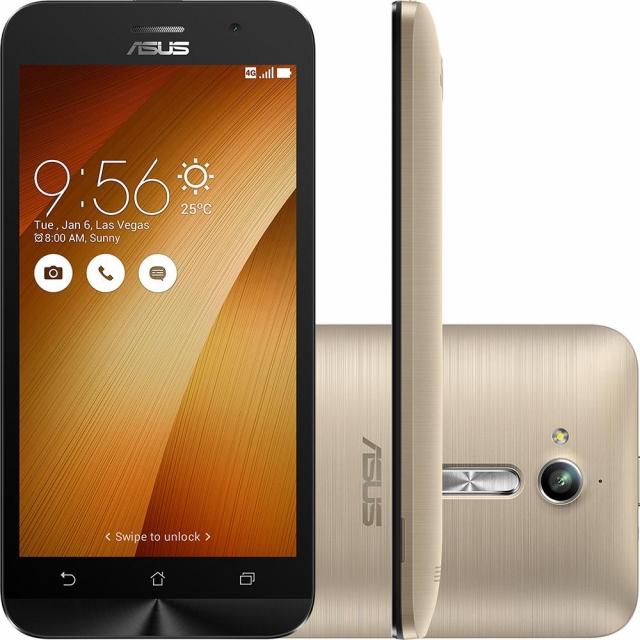 Smartphone Asus Zenfone Go LTE Gold Dual Chip Android 6.0 Tela 5 16GB 4G Wi-Fi Câmera 13MP - Dourado