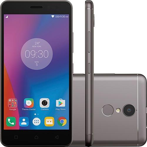 Smartphone Lenovo Vibe K6 Dual Chip Android Tela 5 Polegadas, 32GB, 4G, Câmera 13MP - Cinza