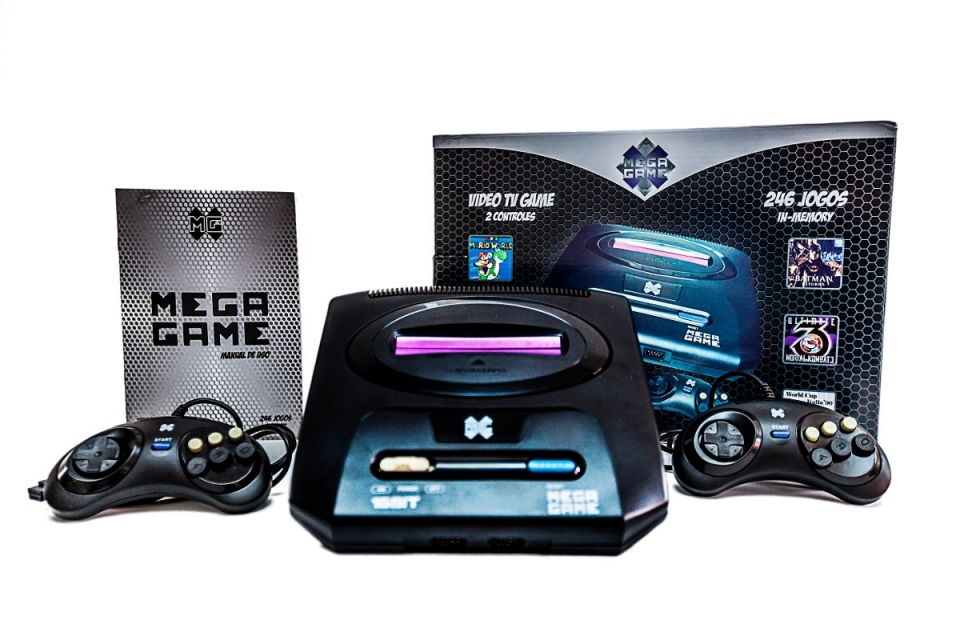 Video Game Mega Drive 123 Jogos Classicos do Mega Drive 220V