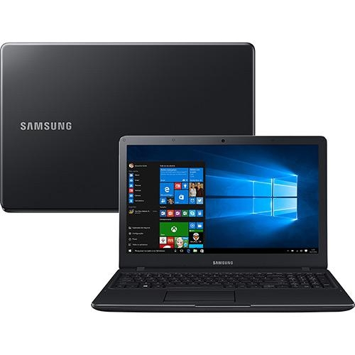 Notebook Samsung Essentials E21 Intel Celeron Dual Core 4GB 500GB Tela LED FULL HD 15.6  Windows 10  Preto