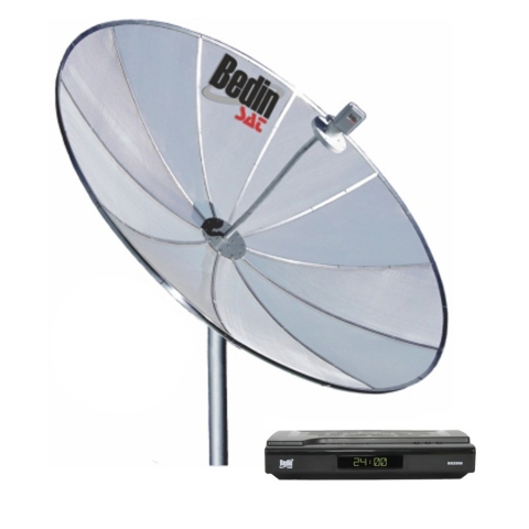 Antena Parabólica Bedinsat 1,50m com Receptor Analógico BS2500