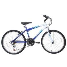 Bicicleta Aro 24 Cairu Flash Bike MTB Masculina 21 Marchas Azul
