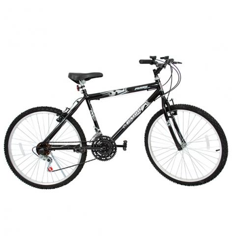 Bicicleta Aro 24 Cairu Flash Bike MTB Masculina Preto 21 Marchas