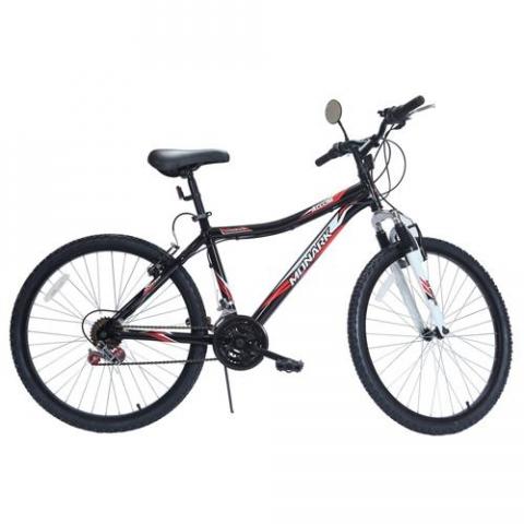 Bicicleta Aro 26 Monark Allum 21 Marchas com Suspensão Dianteira Preta
