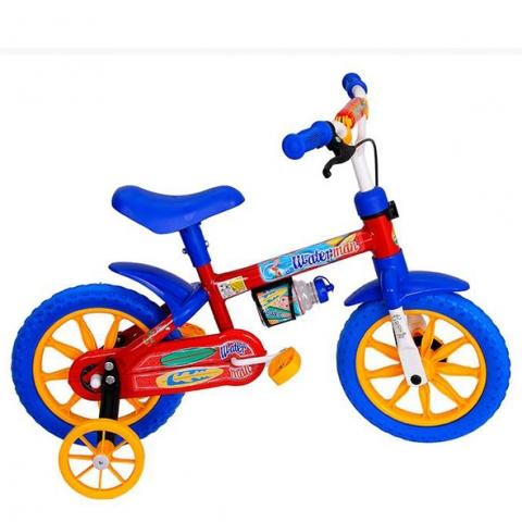 Bicicleta Infantil Cairu Water Man Aro 12 Masculina Vermelho/Azul