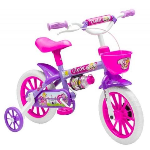 Bicicleta Cairu Feminina Flower Violeta Aro 12