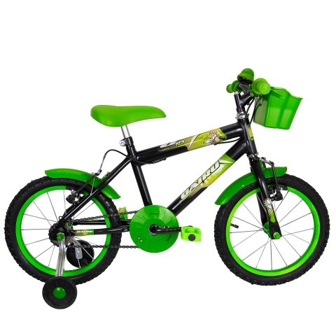 Bicicleta Infantil Aro 16 Cairu C10  Personal Preto/Verde