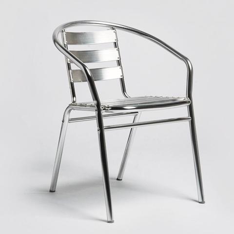 Cadeira Alegro para Ambiente Externo Super R-110 de  Alumínio Anodizado