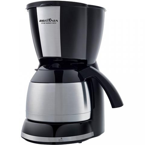 Cafeteira Britânia Thermo Inox Capacidade 38 cafés - Preta