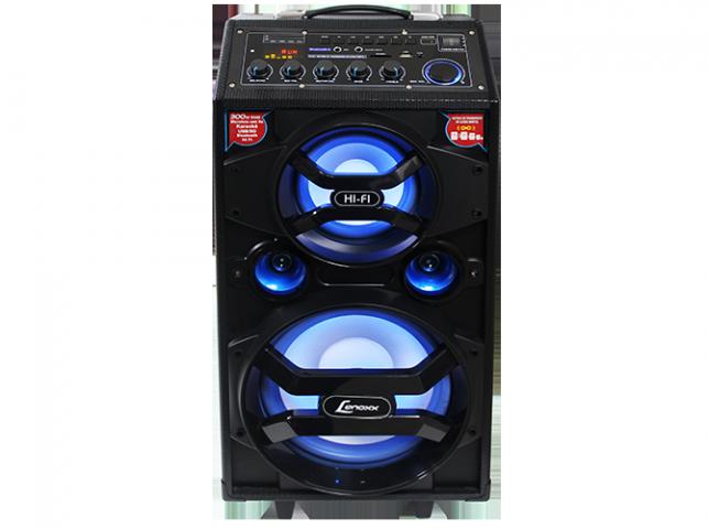 Caixa Amplificadadora Lenoxx CA-318 com Bluetooth, Mp3, Hi-Fi, Karaokê, Entradas USB, Cartão SD e Auxiliar e Microfone Sem Fio - 300W RMS