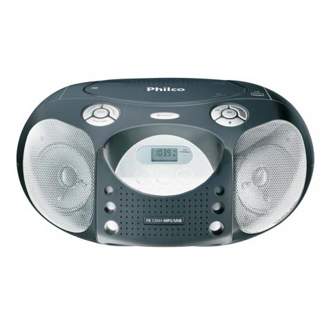 CD Player Portátil Philco PB120N c/ MP3 e USB - Prata.