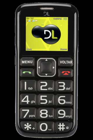 Celular DL YC110 sos, Dual, Desbloqueado Preto