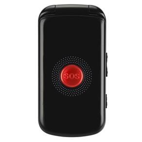 Celular DL YC130, Dual SIM, com exclusiva função SOS, lanterna, teclas maiores, indicação de pressionamento por voz e bateria de longa duração