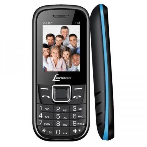 Celular Lenoxx Cx903 2 Chips Câmera Vga Mp3 Rádio Fm Preto/Azul