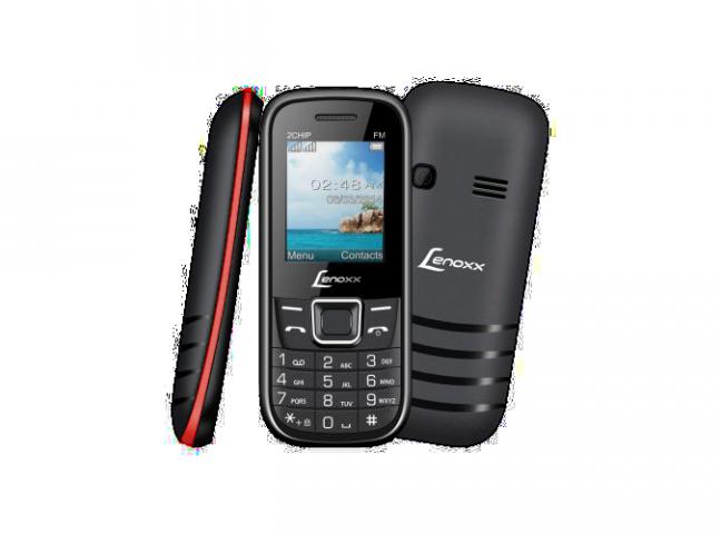 Celular Lenoxx Cx903 2 Chips Câmera Vga Mp3 Rádio Fm Preto/Vermelho