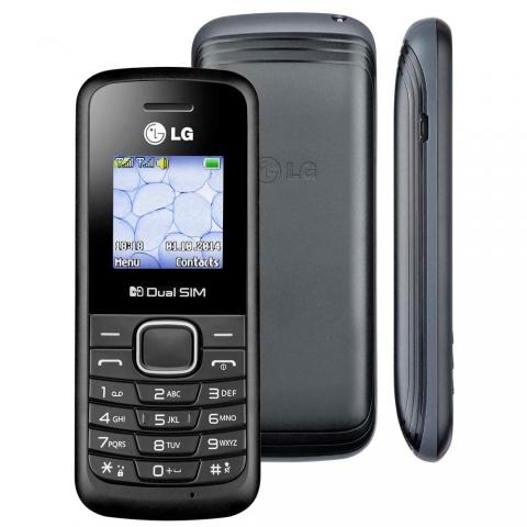 Celular LG B220 TIM Desbloqueado Preto com Dual Chip, Rádio FM, Display Colorido de 1.45
