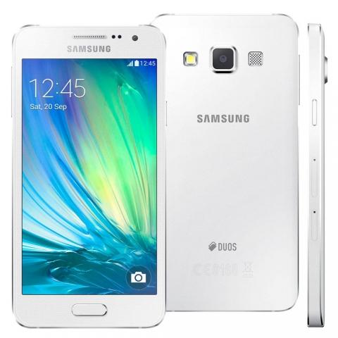 Celular Smartphone Samsung Galaxy A3 4G Duos A300M Branco com Dual Chip, Tela 4.5