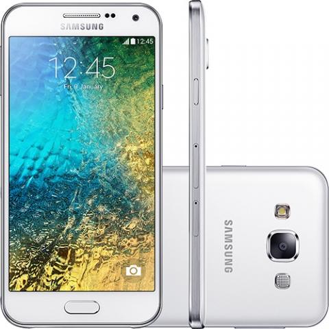 Celular Smartphone Samsung Galaxy E5 Duos Dual Chip Desbloqueado Android 4.4 Tela Amoled HD 5  16GB 4G Wi-Fi Câmera 8MP - Branco