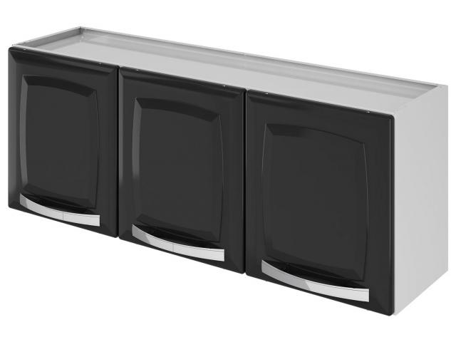 Cozinha Compacta Itatiaia Rose  7 Portas Aço Branca/Preta