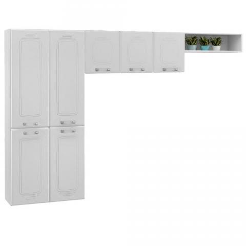 Cozinha Compacta Telasul Novitá 807409 com 7 Portas Branca.