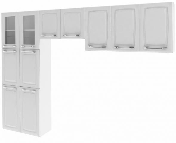Cozinha Itatiaia Criativa Max II 3 peças (Armário aéreo + Paneleiro + Nicho) Branco
