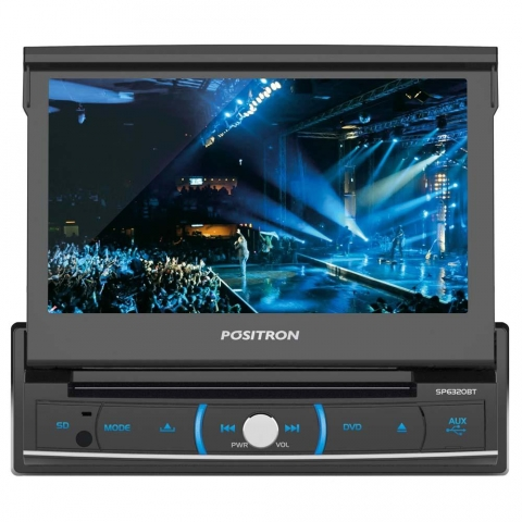 DVD Player Automotivo Positron SP6320BT com Tela 7, Touch Screen, Bluetooth, USB, SD-Card, Entrada Auxiliar e Controle Remoto