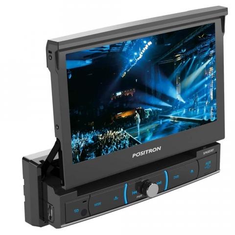 DVD Player Automotivo Positron SP6320BT com Tela 7, Touch Screen, Bluetooth, USB, SD-Card, Entrada Auxiliar e Controle Remoto