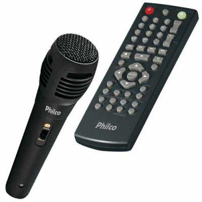 DVD Player c/ Karaokê, Função Game c/ 2 Joysticks e Ripping PH170N - Philco