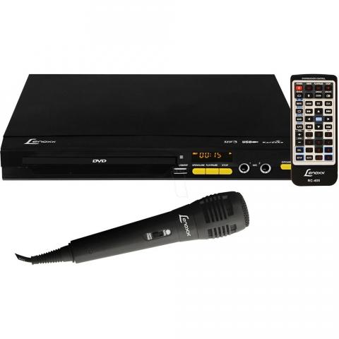 DVD Player Lenoxx DK-452 com Karaokê Pontuação e USB 220V
