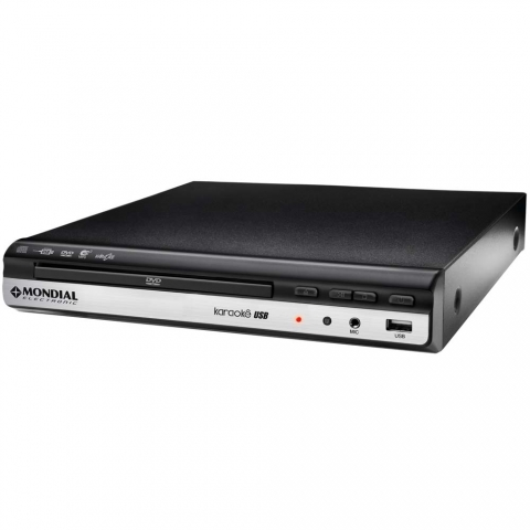 DVD Player Mondial D10 com Display Digital, Karaokê, Entrada USB e Ripping