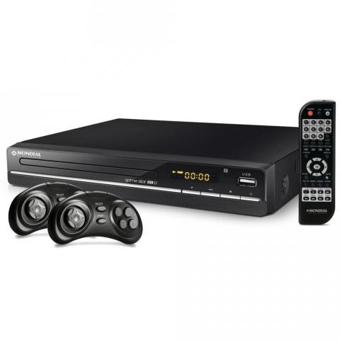 DVD Player Mondial Game Star II D-14 com Karaokê Função Game Entrada USB e Ripping
