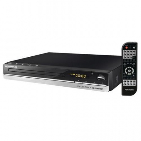 Dvd Player Mondial, Usb, Função Karaokê, Função Ripping-Copy - D18