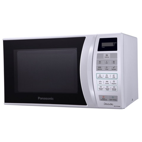Forno Microondas  Panasonic Dia-Dia NN-ST254WRU,Trava de Segurança Eletrônica,  21L  Litros Branca