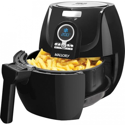Fritadeira Sem Óleo Digital Mallory Air Fryer Extra Grande 3,2L Preta