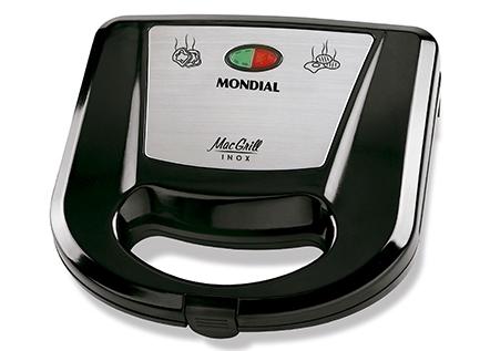 Grill e Sanduicheira Mac Grill Inox S-11- Mondial