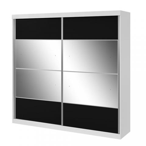 Guarda Roupa Lopas Da Vinci 2 Portas com Espelho Branco/Touch