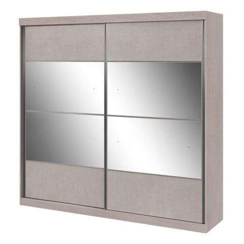 Guarda-Roupa Lopas Da Vinci 2 Portas com Espelho Ébano/Touch