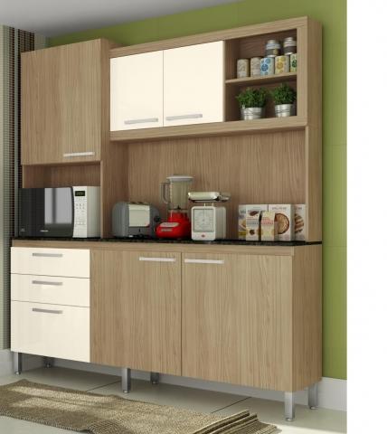 Kit Cozinha Gralar Utile 207 Carvalho