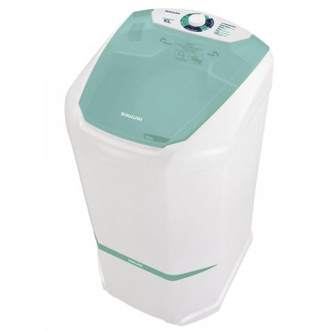 Lavadora de Roupas Suggar 10kg Semi- Automática Lavamax LX1001BR Branco 220V