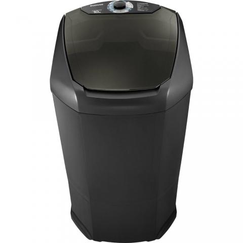Lavadora de Roupas Suggar 10kg Semi- Automática Lavamax LX1001PT Preta 220V