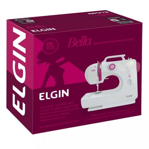 Máquina de Costura Elgin Bella BL 1200 com 6 pontos úteis e Luz na Costura Bivolt