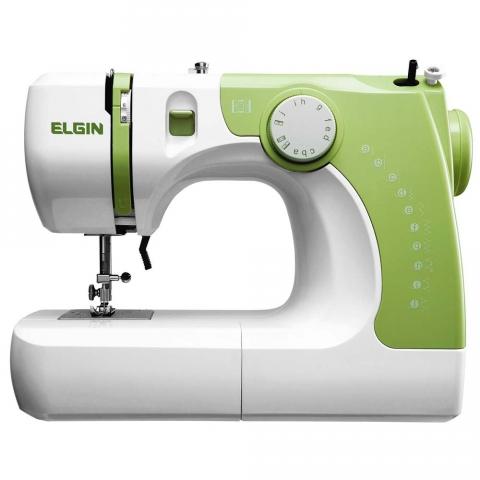 Máquina de Costura Elgin Supéria JX-2050 - Branca/Verde