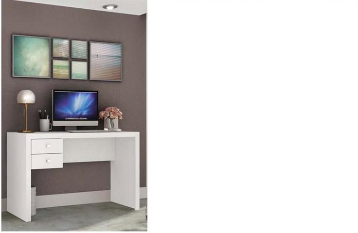 Mesa Para Computador Tecno Mobili Me4123 Com 2 Gavetas Branco