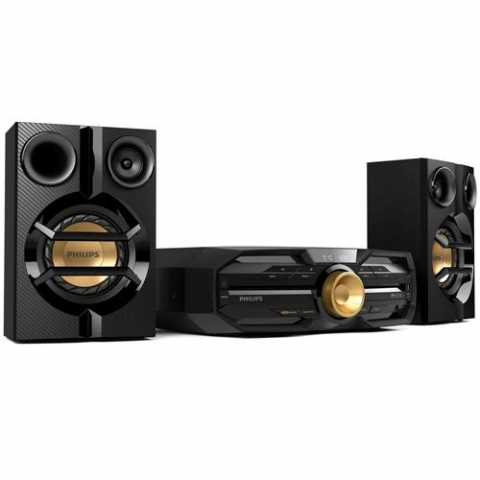 Mini System Hi-Fi Philips FX20X/78 com MP3, Entrada USB, Bluetooth, NFC, Amplificador Duplo e Ripping 300 RMS