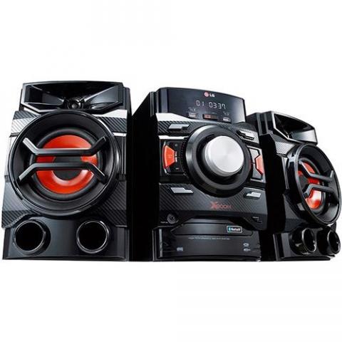 Mini System LG CM4350 Preto Bluetooth com CD Player Rádio AM/FM USB MP3  220W