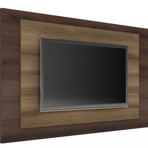 Painel para TV Linea Brasil Roma Capuccino Wood / Ebano