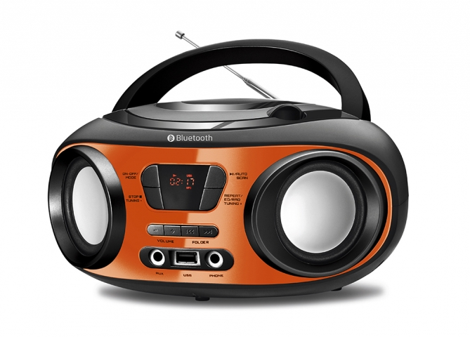 Radio Bombox Mondial Bx-18 Up Orange Bluetooth