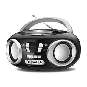 Rádio Portátil Mondial BX-13 Preto Com CD 6W com Entrada USB/AUX e Rádio FM