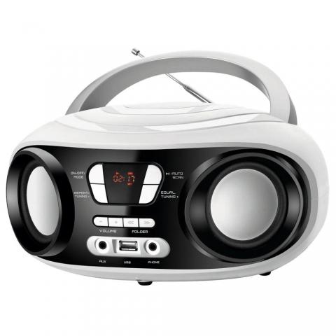 Rádio Portátil Mondial BX-14 com Entrada USB, Entrada Auxiliar e Rádio FM 6 W