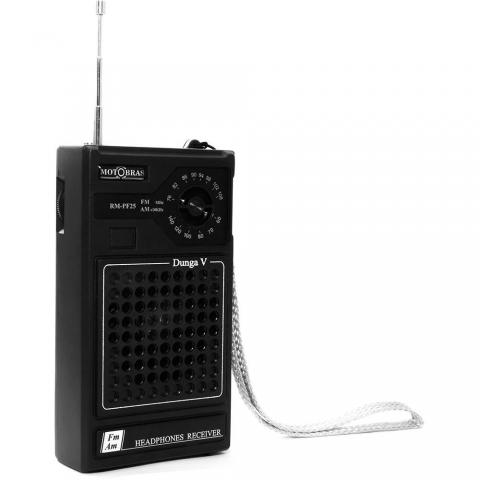 Rádio Portátil Motobrás RM PF 25 AM/FM